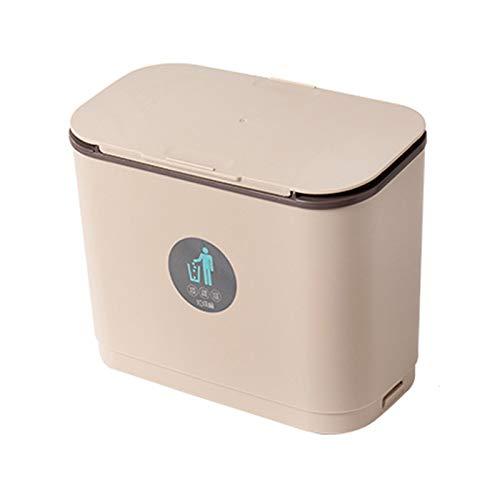 Cubo de Basura Bote de basura La basura de la cocina puede colgar la papelera de la basura para la puerta del gabinete con la tapa del hogar, la papelera montada en la pared, la bote de la basura, los