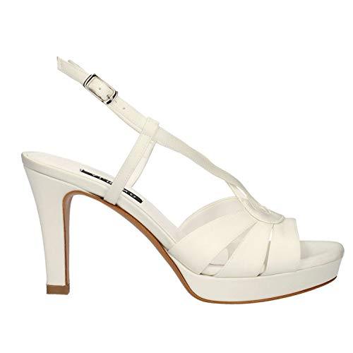 albano scarpe sposa ALBANO SCARPE DECOLTE SANDALO SPOSA 9737 BIANCO RASO ORIGINALE PE NEW Taglia 39 Colore Bianco