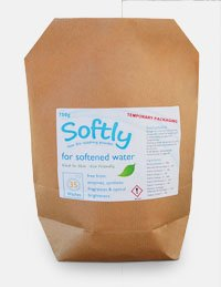 softly Eco Washing Powder Laundry Powder specially formulated for Water Softener Owners and Soft Water Areas 750g bag - 35 Washes