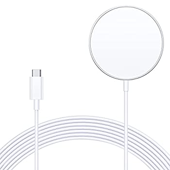 ZEROLEMON Magnet Wireless Charger Compatible with Mag-Safe Charger [10ft] Fast Wireless Charging Pad for iPhone 12 Mini/ 12/12 Pro/ 12 Pro Max/AirPods Pro - Silver
