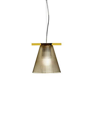 Kartell Light-Air, Lampe de Suspension Version Ciselée, Ambre