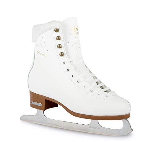 Botas - Model: Diana/Figure Ice Skates for Women, Girls/Color: White, Size: Adult 5