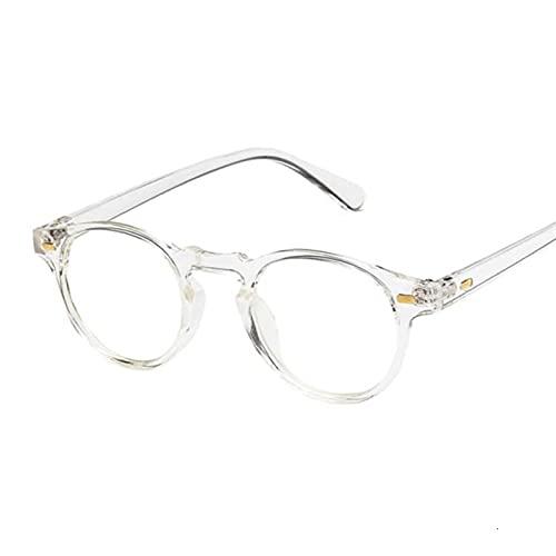 YUANBOO Gafas De Sol Redondas Mujeres Unisex Retro Vintage Diseño Pequeñas Gafas De Sol para Mujer Conducción Sunglass Sombras para Mujer (Lenses Color : Transparent)
