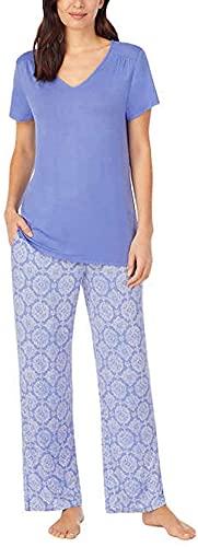 Carole Hochman Midnight Women's 2 Piece Super Soft Pajama Set (Blue, xx_l)