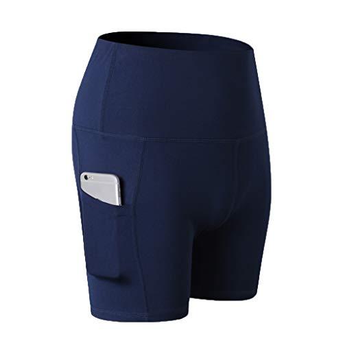 Kobay Legging Femme Pantalon de Sport avec Poches Yoga Fitness Gym Pilates Taille Haute Gaine Large