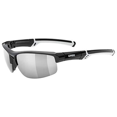uvex Unisex– Erwachsene, sportstyle 226 Sportbrille, black white/silver, one size