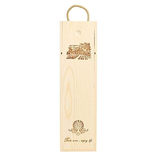 Caja de almacenamiento de vino de madera con diseño retro y delicado de pino. Un gran regalo para los amantes de los vinos de los jefes