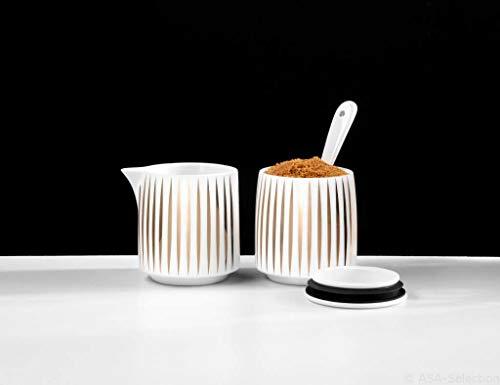 ASA 29400425 Milch & Zucker Zucker Set, Porzellan, weiß-gold