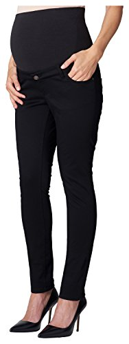 ESPRIT Maternity Damen leichte Sommer Chino Umstandshose Pants 5-Pocket Hose (38 (Herstellergröße: 38/36), schwarz (Black))