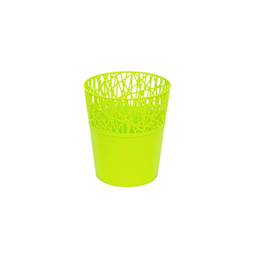 Rond cache-pot 11.5 cm CITY en plastique romantique style en lime