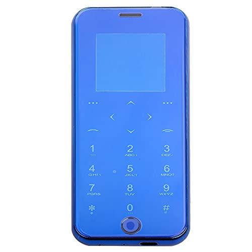 CCYLEZ Mini teléfono de 1.54 Pulgadas Desbloqueado, teléfono Inteligente portátil 2G, teléfono con Tarjeta Inteligente, Soporte de Doble Tarjeta SIM en Espera, Cuerpo Liso de Arco 2.5D