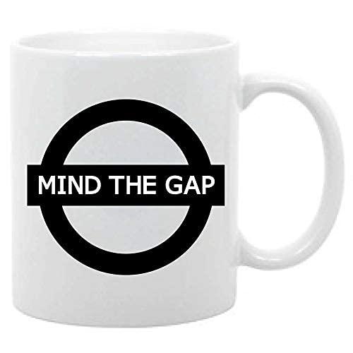 N\A Novedad Tazas Taza de Viaje Mind The Coffee de 11 onzas, Metro de Londres, Que Dice, Taza de Viaje