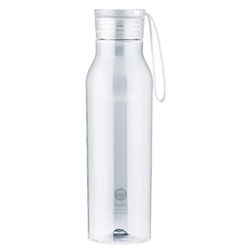 Botellas de agua Taza De Agua Plástica Ecológica para Deportes, Exteriores, Frasco A Prueba De Fugas, Ideal para La Escuela Y Los Deportes, 350 Ml, 550 Ml (Color : Transparent, Size : 550ml)