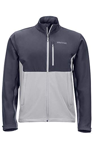 Marmot Herren Estes II Jacket Softshelljacke, Funktions Outdoor Jacke, Wasserabweisend, Sleet/Steel Onyx, S
