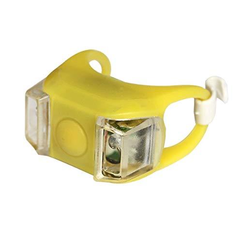 Luces de Bicicleta a Prueba de Agua Luz LED de Silicona con baterías Luces Delanteras de Bicicleta Lámpara de Faro Accesorios para Bicicletas - Amarillo - Luz Amarilla, a3