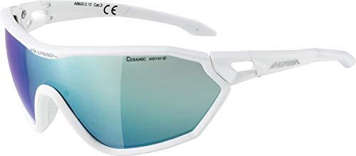 ALPINA S-WAY CM+ Sportbrille, Unisex– Erwachsene, white matt, one size