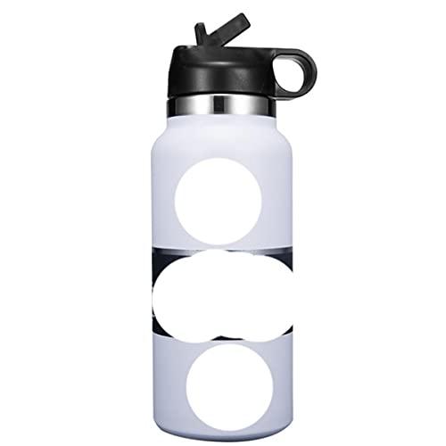 Frasco de botella deportiva de calidad 1840Tumbler Botella de agua de acero inoxidable con aislamiento al vacío Botella de boca ancha Nuevas botellas-Estados Unidos, 32 oz, Blanco