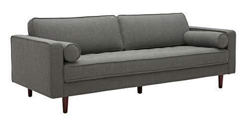Amazon Brand – Rivet Aiden Mid-Century Modern Sofa Couch, 86.6'W, Dark Grey