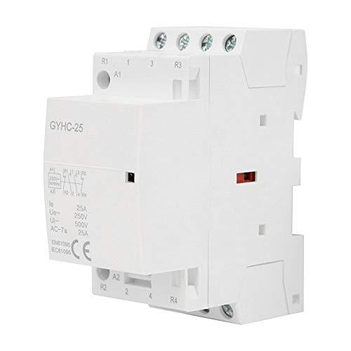 Contactor de CA Doméstico Walfront, 4P 25A 220V 50Hz Montaje en Riel DIN Mini(2NO 2NC)