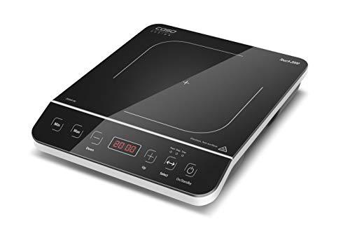 Caso 2008 Touch 2000 Induktionskochplatte, Glaskeramik, schwarz, silber