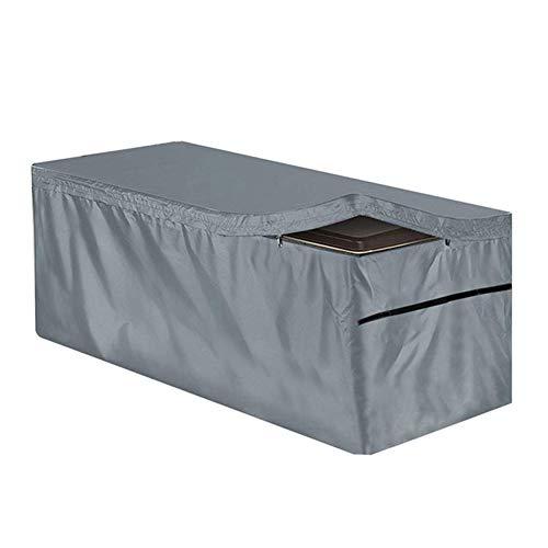 STTC Funda Protectora para Deck Box, 210D Oxford Impermeable a Prueba de Polvo Anti-UV Protección Exterior Cubierta de Muebles de Mesas,Gris,157x76x71cm