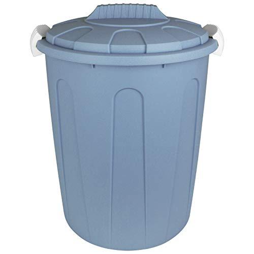 TW24 Maxitonne mit Deckel 23L mit Farbwahl Pastell Farben Windeleimer Abfalleimer Kunststoff Mülltonne Abfalltonne Mülleimer Müllsammler (Pastell Blau)