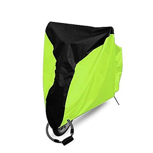 WILLQ Motorrad abdeckplane wasserdicht Außenschutz, Schutz vor Staub, Schmutz, Regen und Wetter,Motorradabdeckung wasserdicht im Freien,Edge Green,L
