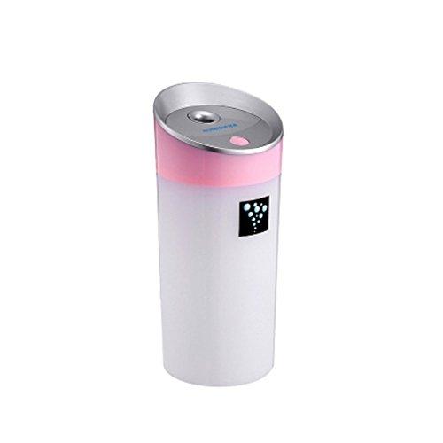 MagiDeal 300ML Ultrasónico Humidificador USB para Coche Oficina Casa de Color Verde/Azul/Rosa/Blanco - Rosa