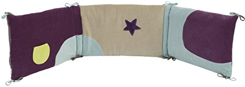 P'tit Basile - Tour de lit bébé pour lit de dimensions 60x120 cm ou 70x140 cm. Velours 100% Coton issu de l'agriculture biologique - Collection mixte Sirius et Cassiopée