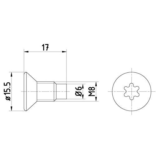 HELLA PAGID 8DZ 355 209-041 Schraube, Bremsscheibe, Hinterachse oder Vorderachse, Oberfläche Chrom-(VI)-freie Passivierung, Set aus 2 Bremsscheiben