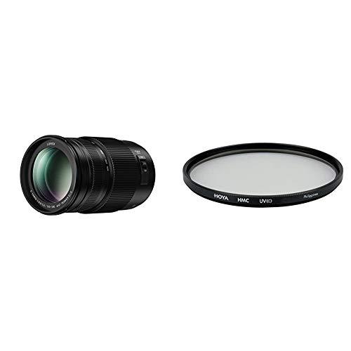 Panasonic H-FSA100300E Lumix G Vario 100-300 mm/ F4.0-5.6 II/O.I.S. schwarz & Hoya HMC UV (C) Objektiv (67 mm Filter)