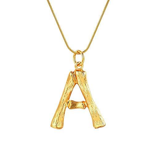 NSXLSCL Vrouwen Hanger Ketting, Grote Letters Een Goud Hanger Kettingen Voor Vrouwen Met Snake Chain Engels Letter Sieraden Beste