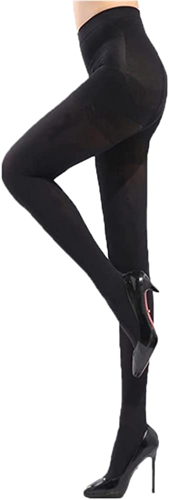 Seamless Tights - Waist High 15-25 mmHg Compression Stockings Pantyhose, Closed Toe, Medium, Natural (Black)