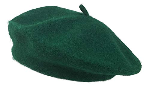CHAPEAU TRIBE Classic Stretchable Wool French Beret (Green)