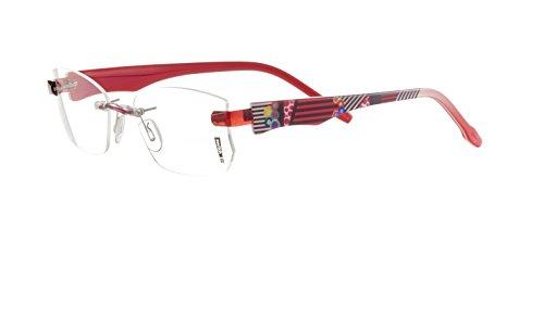 Switch it! Garnitur mit Muster - Acetat Wechselbügel in verschiedenen Farben (2255: rot-schwarz-weiß, innen rot)