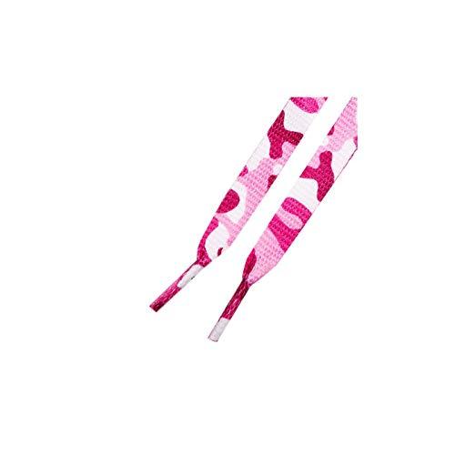 Mr. Lacy Printies Motiv Schnürsenkel - flach - 10 mm breit - 130 cm lang - in verschiedenen Motiven (130 cm, Pink Camo)