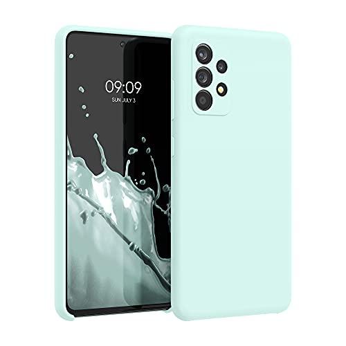 kwmobile Carcasa Compatible con Samsung Galaxy A52 - Funda de Silicona para móvil - Cover Trasero en Menta Helada