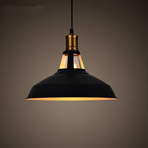Loft Nordic Retro industriële wind kroonluchter bar slaapkamer eetkamer deksel kroonluchters/zonder lichtbron_buiten zwart zwart - diameter 390