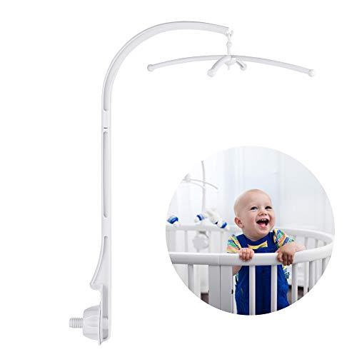 Babybett mobile Bett Glockenhalter, mobile halterung wickeltisch, Spielzeug Dekoration hängenden Arm Halterung zum Aufhängen von Spieluhr, Glocke, Spielzeug oder kleine Plüschpuppe mit Schnüren