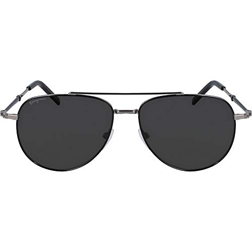 SALVATORE FERRAGAMO Gafas de Sol SF226SP SILVER/GREY 58/15/150 hombre