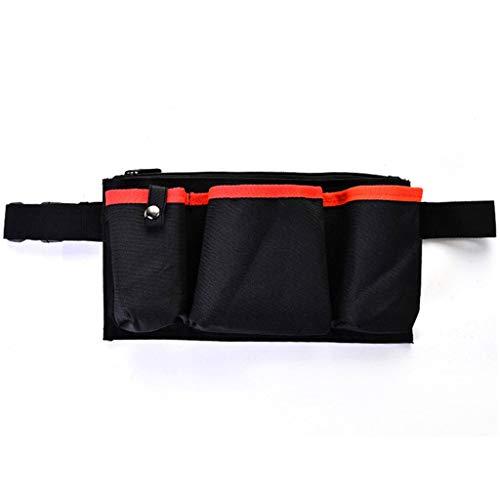 Portátil Hombres Herramienta De Jardinería Cintura Bolsa Fanny Pack Bolsa Ajustable Cinturón Multi Bolsillos Con Negro