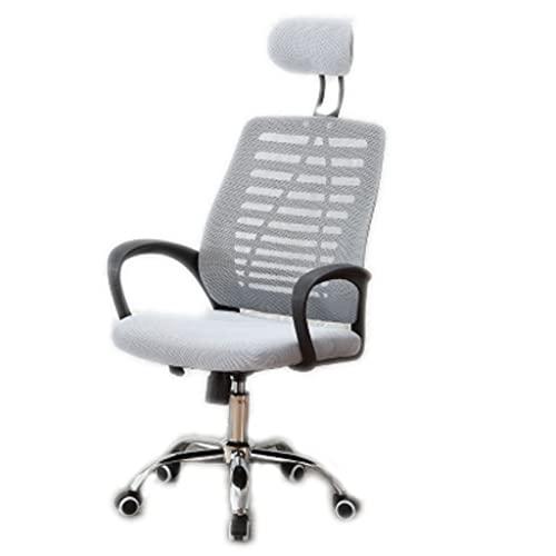 ZANZAN Silla ergonómica de la Silla de la Oficina de la Oficina de la máquina de la Silla de Escritorio con Soporte Lumbar Ajustable apoyando la Silla de tareas ejecutiva (Color : Grey)