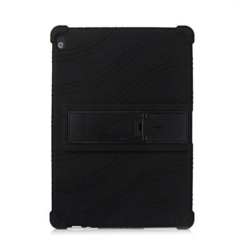 QiuKui - Fundas para Lenovo Tab M10 FHD Rel TB-X605FC TB-X605LC, con función atril para Lenovo Tab M10 Rel (color: negro)
