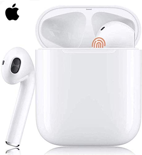 2020 Wireless Earbuds Bluetooth 5.0 Headphones 3D Stereo Headphones Noise Cancellation in-Ear Built-in Mic with Fast Charging Case, IPX5 Waterproof Earphones for Ap-ple iphone/Air-pods/Android/Samsung