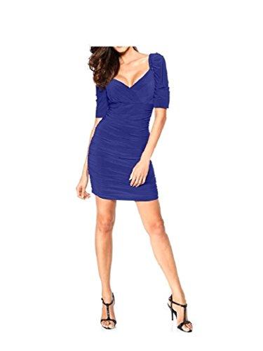 Ashley Brooke Event Damen Kleid Cocktailkleid Blau 36
