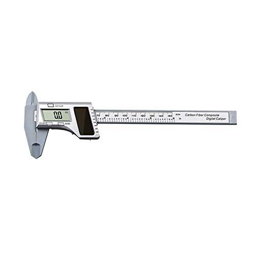 Meijunter 150mm/6'' Measure Range Solar Digital Caliper - Metric Inch Conversion Vernier Gauge Ruler Depth Measuring Tool Accessories