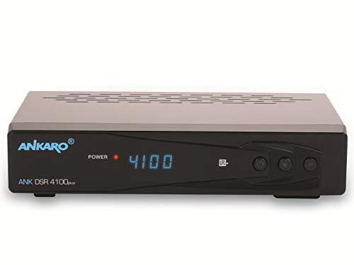 ANKARO DSR 4100 Plus HD HDTV digitaler Satelliten-Receiver (HDTV, DVB-S/S2, SAT, HDMI, SCART, 1x USB 2.0, Easyfind, Full HD 1080p) [vorprogrammiert für Astra Hotbird] – schwarz