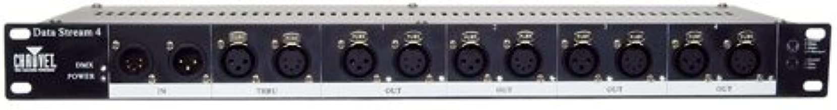 CHAUVET DJ Data Stream 4 Universal DMX-512 Optical Splitter w/4 Outputs from Single Input