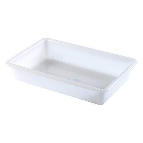 Bandejas de Plástico o Barreño Plastico Rectangular Almacenaje, Blanco… (Tamaño 4, 6 unidades)