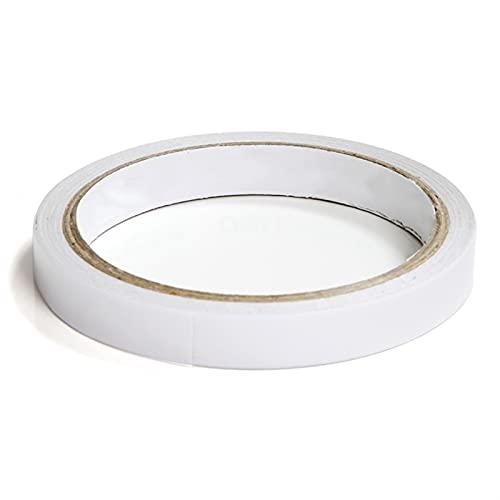 CZCDQA Cinta de Doble Cara Blanca Sólido Ultra Delgado algodón Alto-Adhesivo Adhesivo de Doble Cara para la Oficina de papelería...